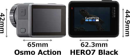 「Osmo Action」と「GoPro HERO7 Black」 2