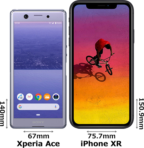 「Xperia Ace」と「iPhone XR」 1
