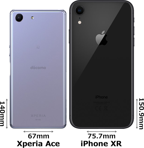 「Xperia Ace」と「iPhone XR」 2