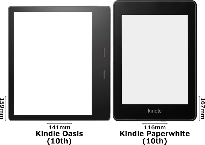「Kindle Oasis (第10世代)」と「Kindle Paperwhite (第10世代)」 1