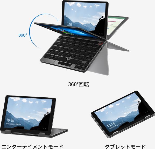 「CHUWI MiniBook」と「MT-WN1004」 2
