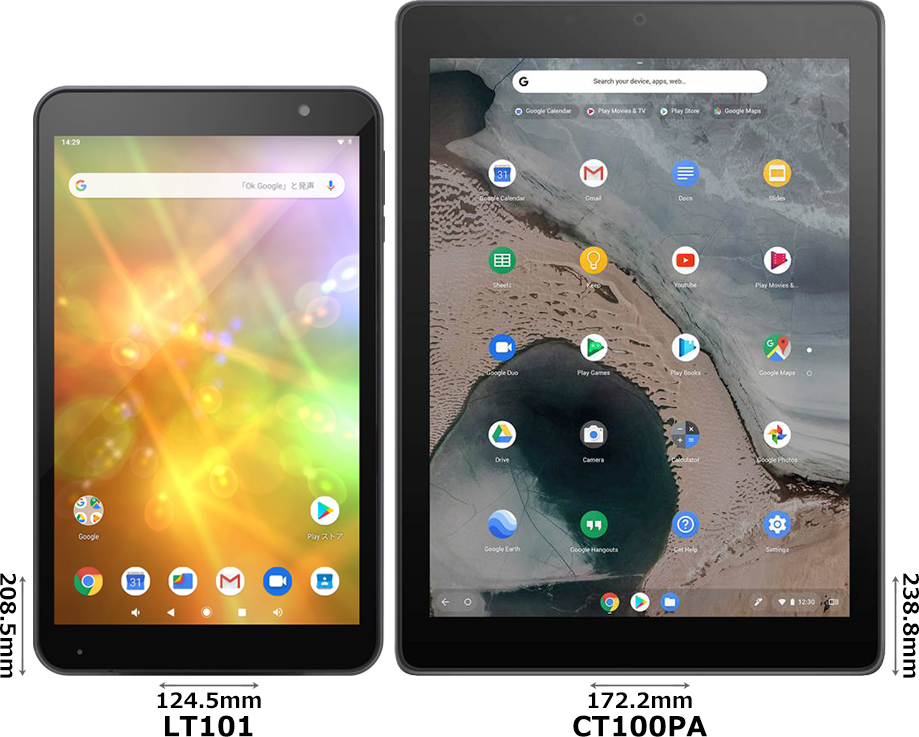 「FRONTIER LT101」と「Chromebook Tablet CT100PA」 1