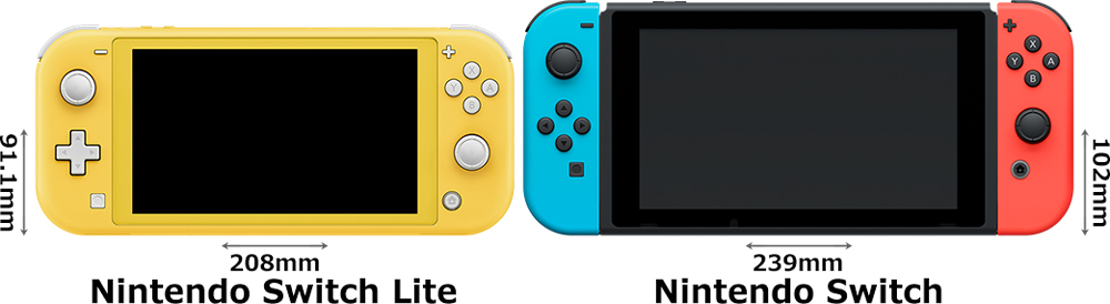 「Nintendo Switch Lite」と「Nintendo Switch」 1