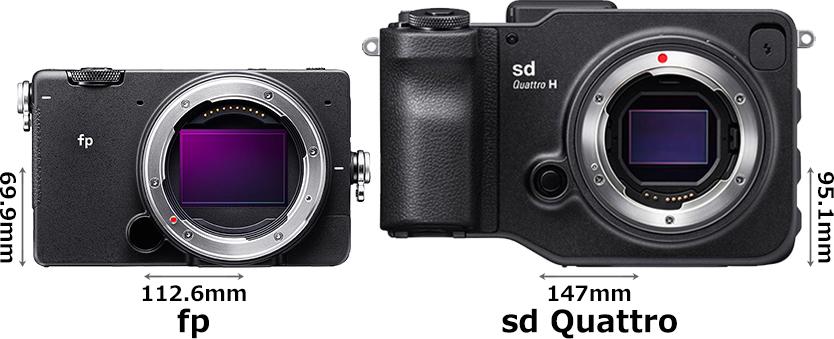 「SIGMA fp」と「sd Quattro H」 1