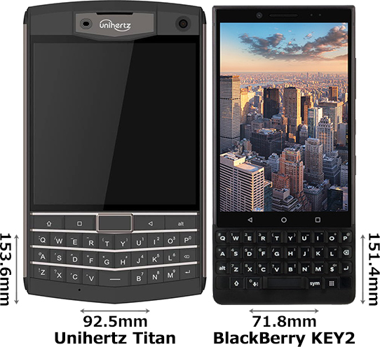 「Unihertz Titan」と「BlackBerry KEY2」 1