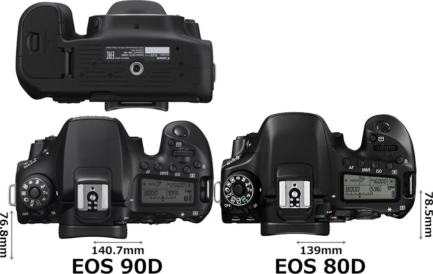 「EOS 90D」と「EOS 80D」 3