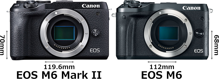 「EOS M6 Mark II」と「EOS M6」 1