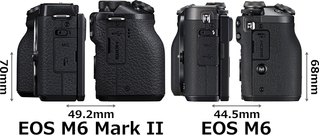 「EOS M6 Mark II」と「EOS M6」 4