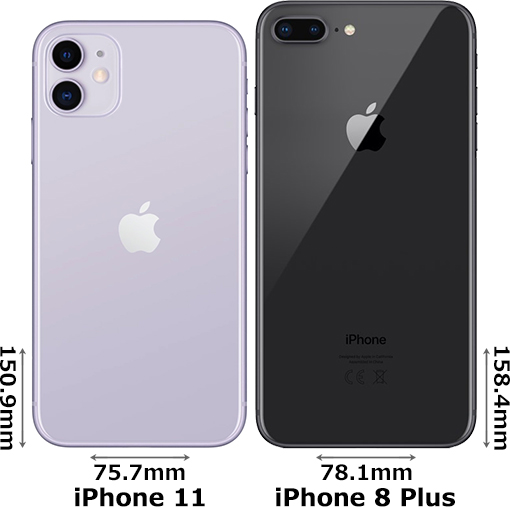 「iPhone 11」と「iPhone 8 Plus」 2