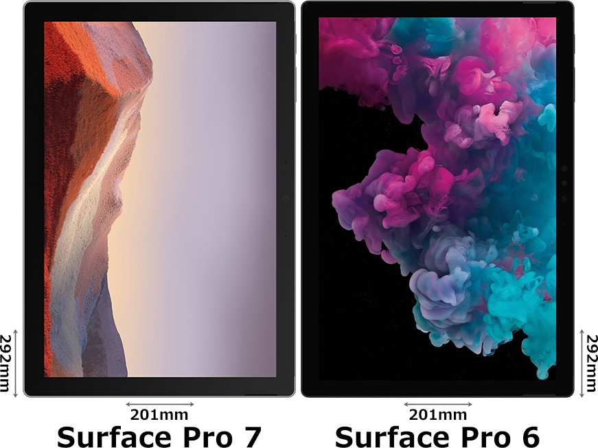 「Surface Pro 7」と「Surface Pro 6」 1