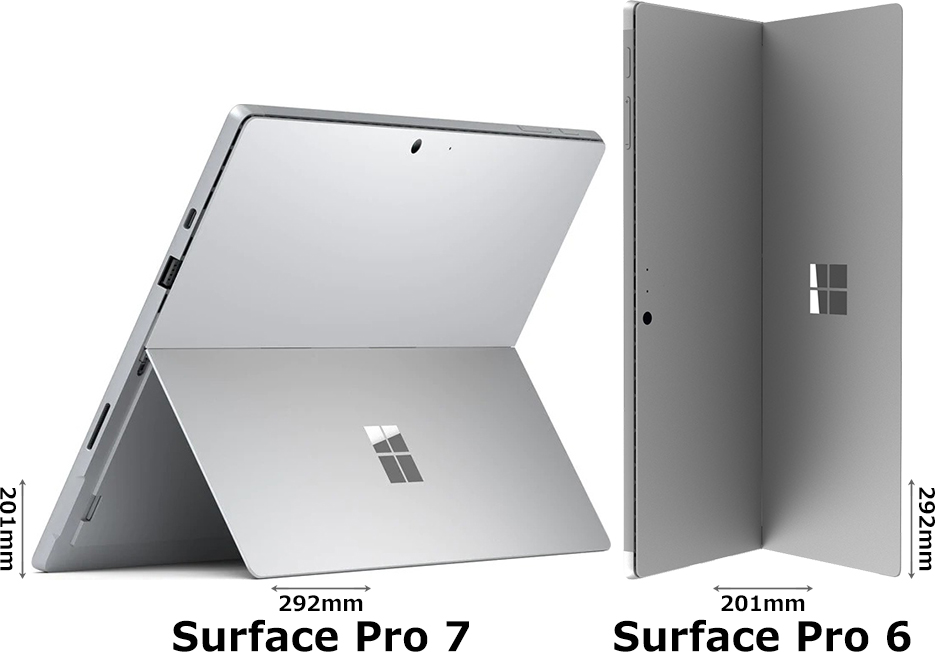 「Surface Pro 7」と「Surface Pro 6」 2
