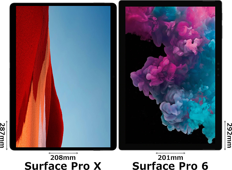 「Surface Pro X」と「Surface Pro 6」 1