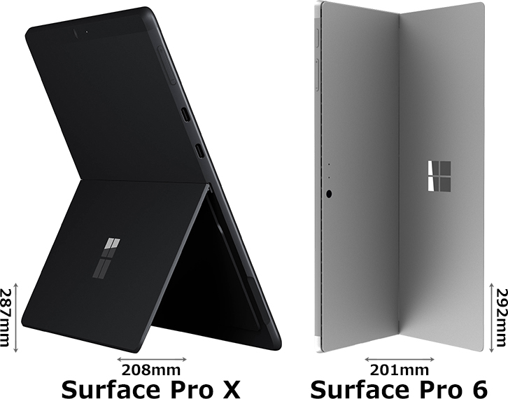 「Surface Pro X」と「Surface Pro 6」 2