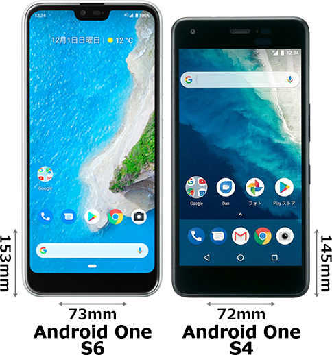 「Android One S6」と「Android One S4」 1