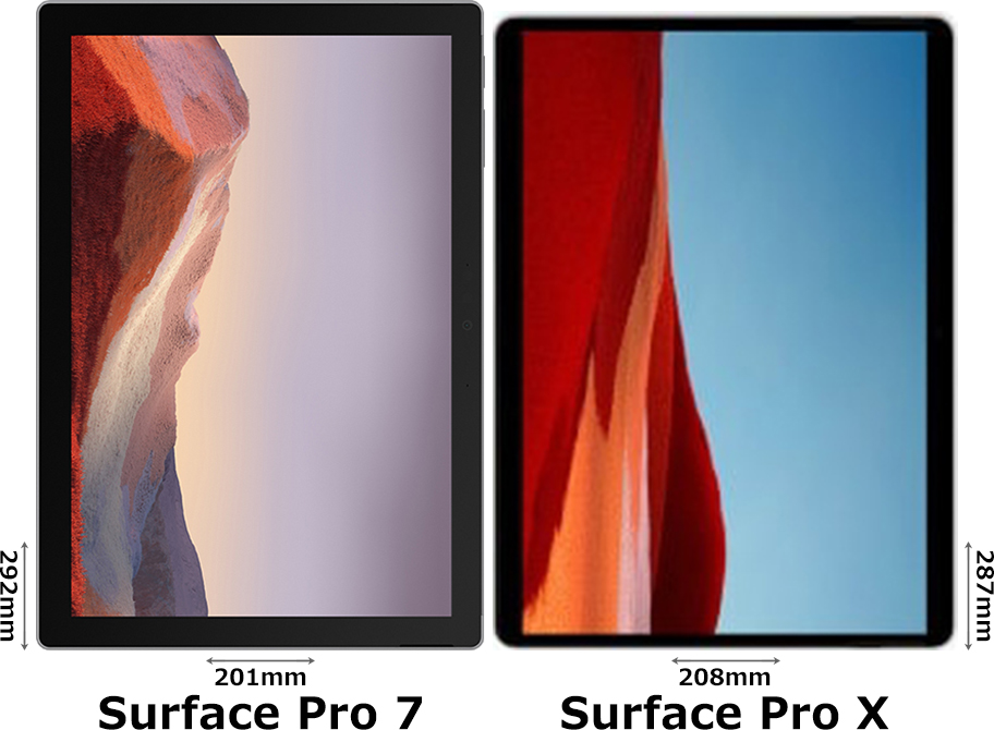 「Surface Pro 7」と「Surface Pro X」 1