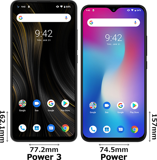 「UMIDIGI Power 3」と「UMIDIGI Power」 1