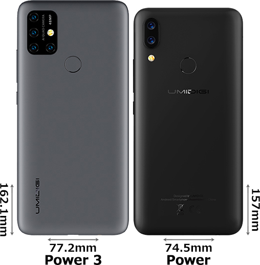 「UMIDIGI Power 3」と「UMIDIGI Power」 2