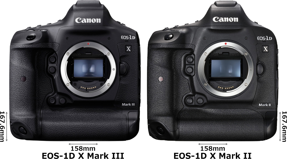 「EOS-1D X Mark III」と「EOS-1D X Mark II」 1