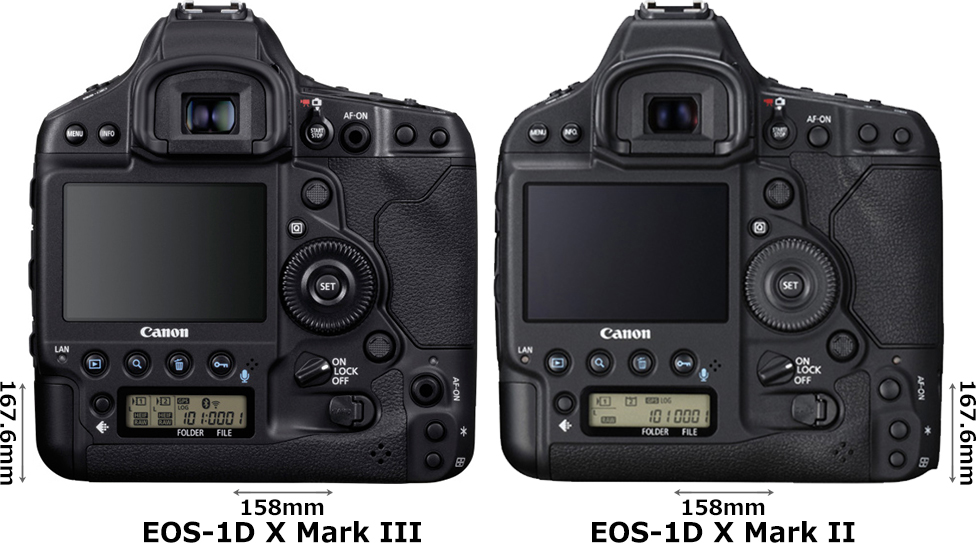 「EOS-1D X Mark III」と「EOS-1D X Mark II」 2