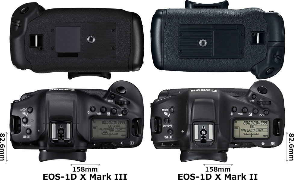 「EOS-1D X Mark III」と「EOS-1D X Mark II」 3