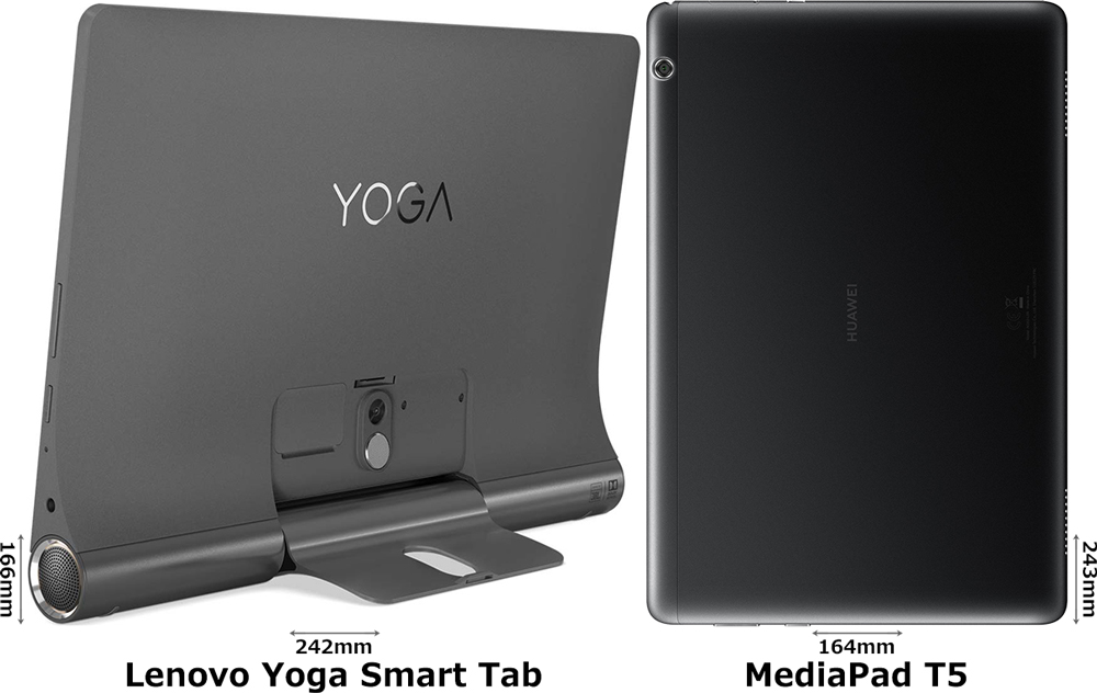 「Lenovo Yoga Smart Tab」と「MediaPad T5」 2