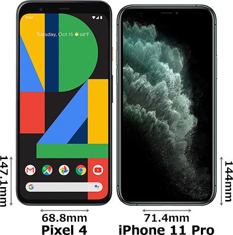 「Pixel 4」と「iPhone 11 Pro」 1