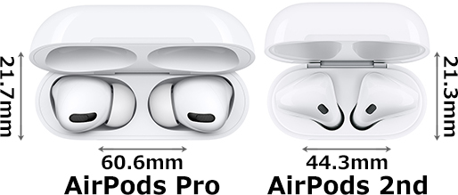「AirPods Pro with Wireless Charging Case」と「AirPods (第2世代) with Wireless Charging Case」 3