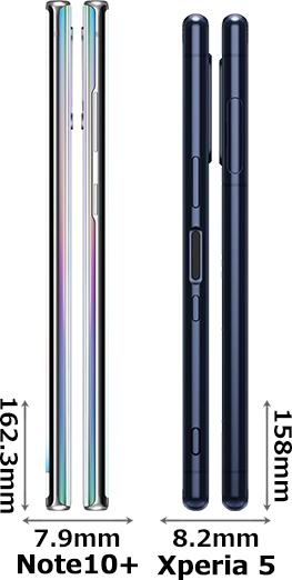 「Galaxy Note10+」と「Xperia 5」 3