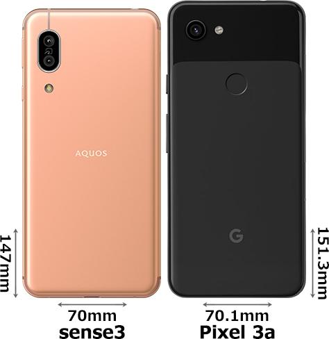 「AQUOS sense3」と「Google Pixel 3a」 2