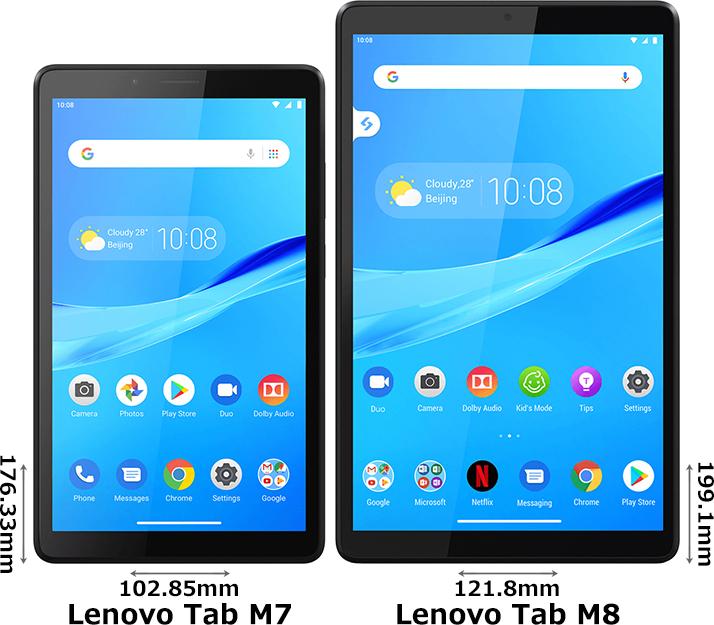 「Lenovo Tab M7」と「Lenovo Tab M8」 1