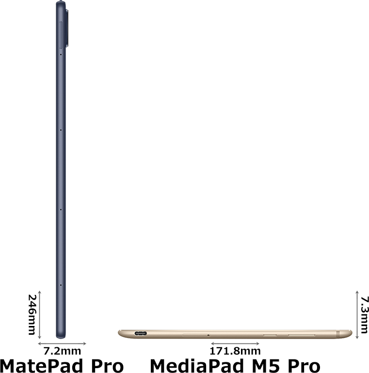 「MatePad Pro」と「MediaPad M5 Pro」 3