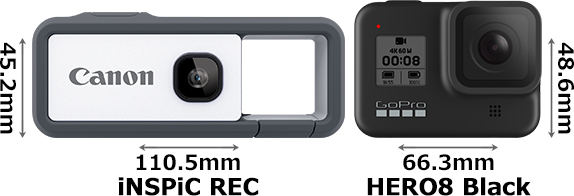 「iNSPiC REC」と「GoPro HERO8 Black」 1