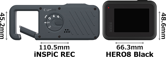 「iNSPiC REC」と「GoPro HERO8 Black」 2