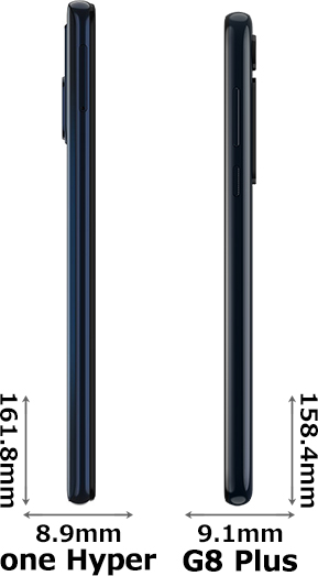 「Motorola one Hyper」と「Moto G8 Plus」 3