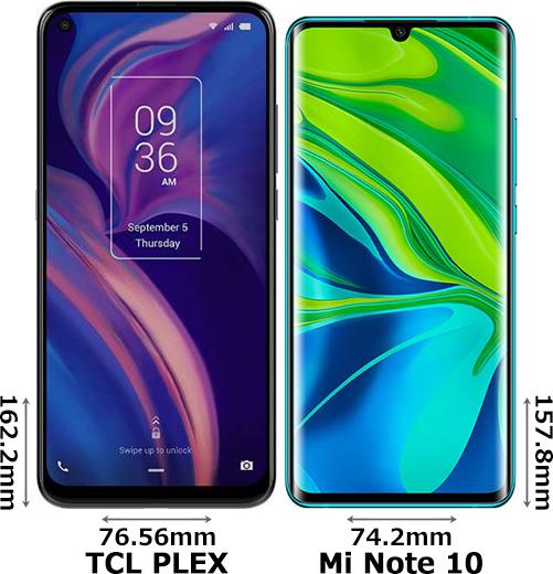 「TCL PLEX」と「Xiaomi Mi Note 10」 1