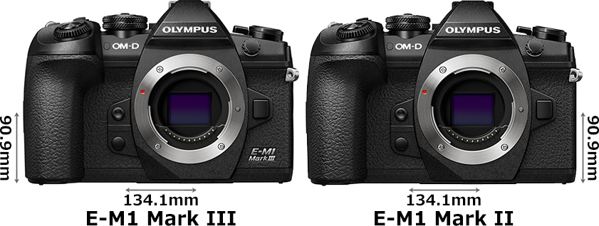 「OM-D E-M1 Mark III」と「OM-D E-M1 Mark II」 1
