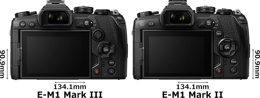 「OM-D E-M1 Mark III」と「OM-D E-M1 Mark II」 2
