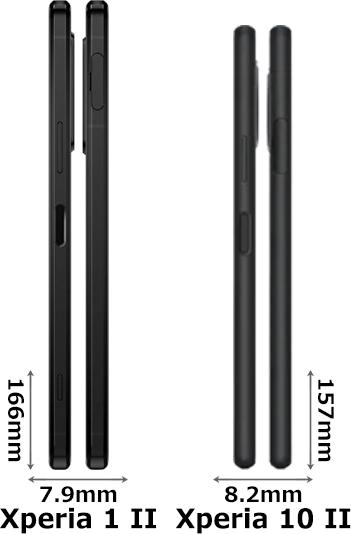 「Xperia 1 II」と「Xperia 10 II」 3