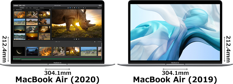 「MacBook Air (2020)」と「MacBook Air (2019)」 1