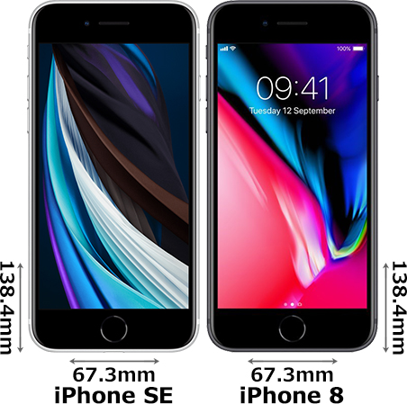 「iPhone SE (第2世代)」と「iPhone 8」 1