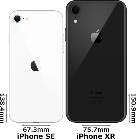 「iPhone SE (第2世代)」と「iPhone XR」 2