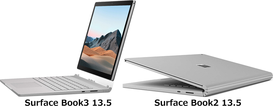 「Surface Book 3」と「Surface Book 2」 2