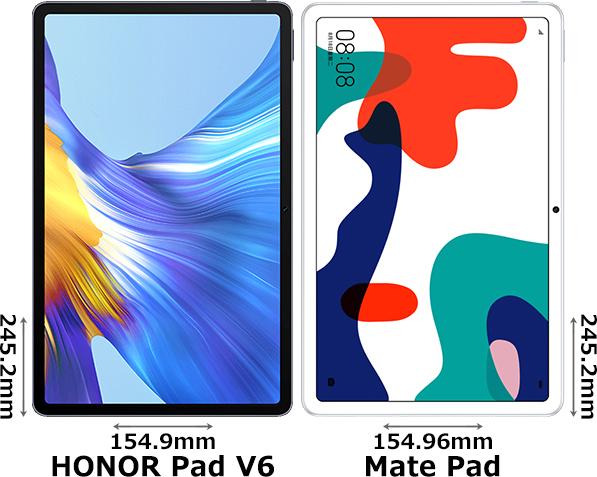 「HONOR Pad V6」と「MatePad」 1