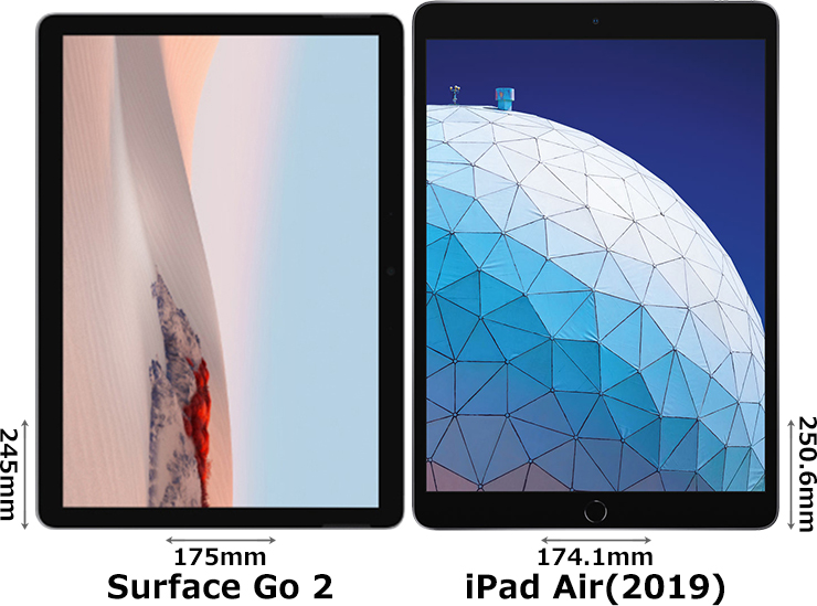 「Surface Go 2」と「iPad Air (2019)」 1