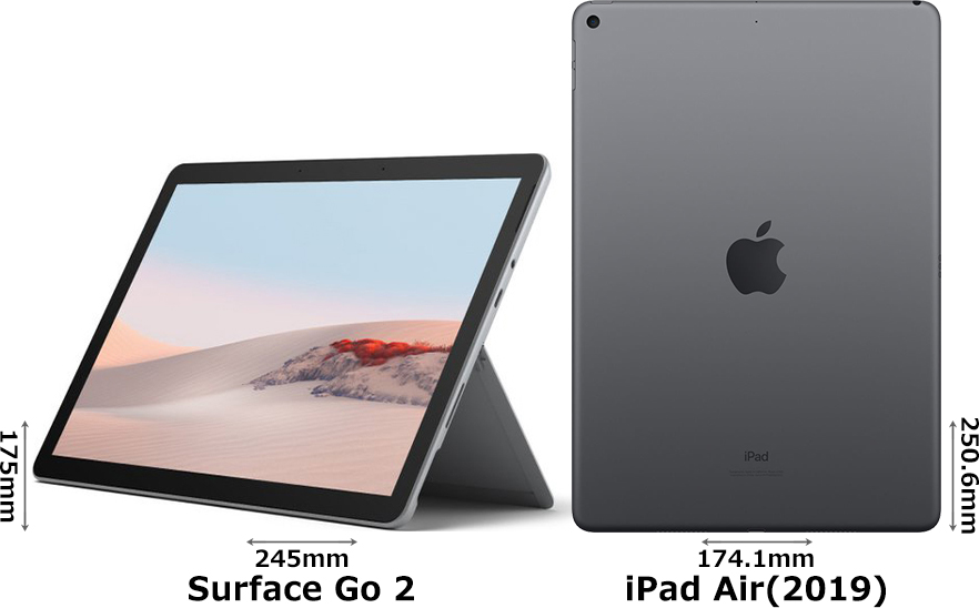 「Surface Go 2」と「iPad Air (2019)」 2
