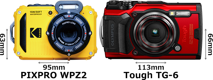 「KODAK PIXPRO WPZ2」と「OLYMPUS Tough TG-6」 1