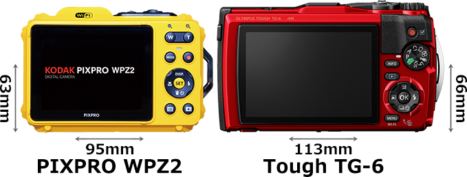「KODAK PIXPRO WPZ2」と「OLYMPUS Tough TG-6」 2