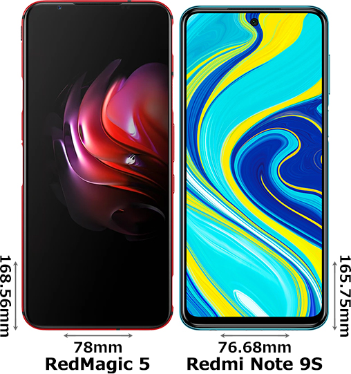 「RedMagic 5」と「Redmi Note 9S」 1