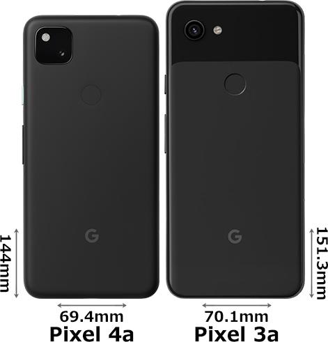 「Google Pixel 4a」と「Google Pixel 3a」 2