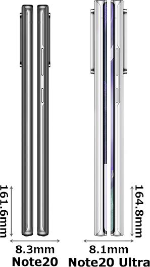 「Galaxy Note20」と「Galaxy Note20 Ultra」 3